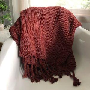 Threshold Maroon Tassel Throw Blanket